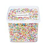 2-4mm(0.08-0.15 Inch)Mini Styrofoam Foam Balls Decorative Slime Ball DIY Wedding Party School Home Decoration 15000 Pcs (Mixed colors 1)