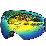 UShake Ski Goggles, Snow Goggles, Snowboard Goggles with Matte Anti-Fog Anti-Scratch 100% UV
