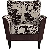 Parker Lane uch-rex-bna-uda Lounge Chair, Two Tone Cow Print