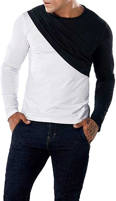 Men s Fashion Slim Casual Blouse Long Sleeve Fit Pollover Shirt Printed Causal