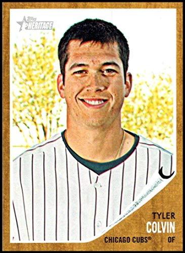 (2011 Topps Heritage #406 Tyler Colvin NM-MT Chicago Cubs Official MLB Baseball Card)