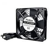 3 inch ac fan - Pinfox 110V AC High Speed Cabinet 1225 Cooling Fan, 120mm x 120mm x 25mm, 115V 120V Dual Ball Bearings for Incubator, Home Brewing (120mm x 120mm x 25mm)
