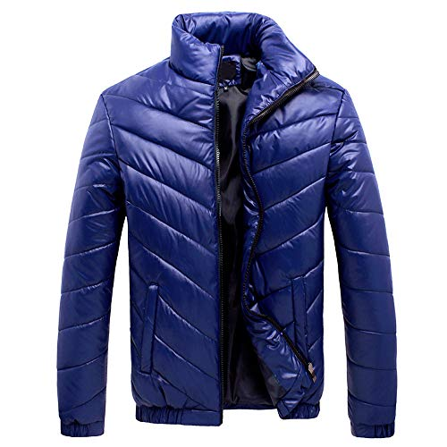 En Doudoune Homme Léger Zipper Veste Bazhahei Stand Fit Hiver Coton Chaud Épais Slim Manteau Bleu r8rzw