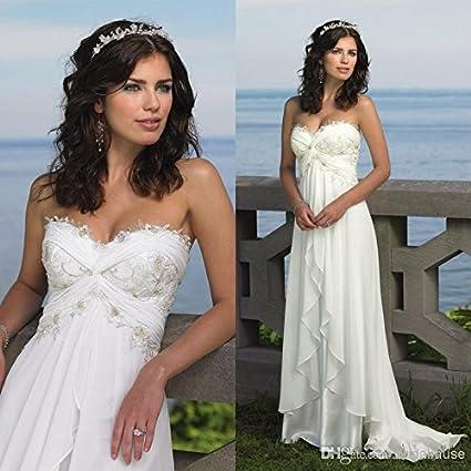 Amazon.com : CHIFFON BEACH WEDDING DRESS : Everything Else