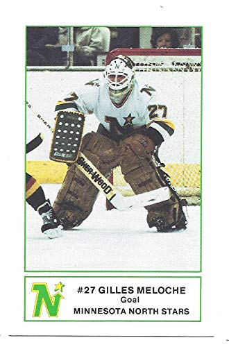 f2e390942 GILLES MELOCHE 1984-85 Minnesota North Stars 7-Eleven Fire Prevention SGA  8