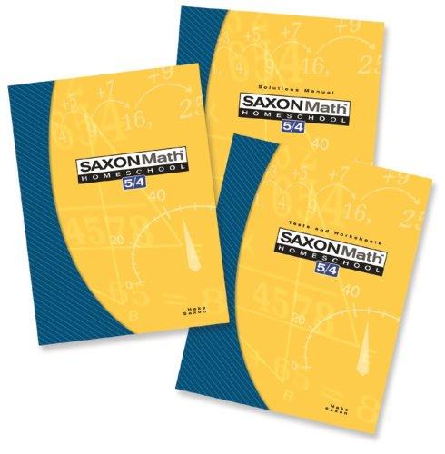 Saxon Math 5/4 Homeschool: Complete Kit 3rd Edition