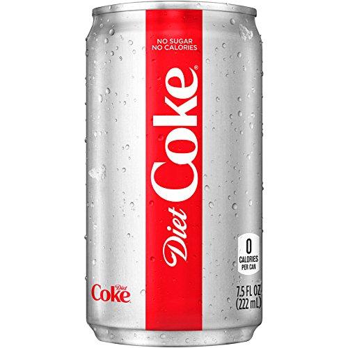Coke Light - Diet Coke Mini-Cans, 7.5 fl oz (Pack of 24)