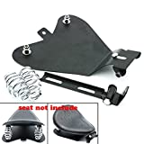 Alpha Rider Motorcycle Solo Seat Baseplate + Springs + Bracket Sitting Cushion Mounting Kit for Harley Sportster XL883 XL1200 48