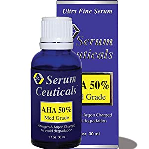 50% Glycolic (AHA-Alpha Hydroxy) Acid Serum for Chemical Peel-Medical Grade. made by MaxLife USA, Inc