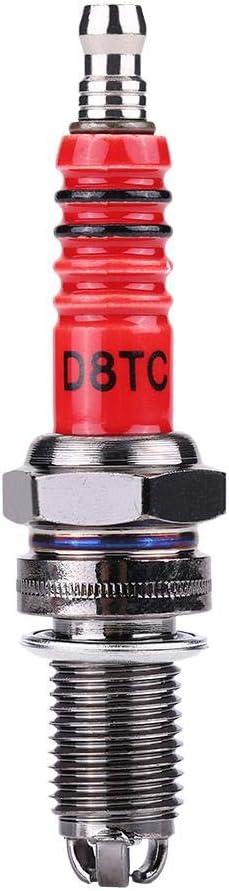 Bougies dallumage 3 PCs d/électrode de bougie dallumage D8TC 3 pour Quads de scooter moto CG 125 150 200cc CF250.