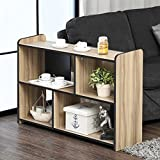 Fitueyes Cubeicals Bookcase Vertical Organizer Media Tower Storage Shelves CD Racks and Stands TV Stand