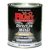 True Value XO10-QT Aluminum Premium X-O Rust Interior/Exterior Gloss Anti Rust Enamel 1 Quart