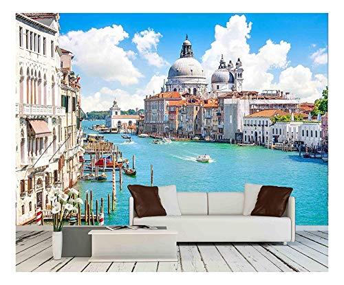 Grand Canal with Basilica Di Santa Maria Della Salute Venice Italy