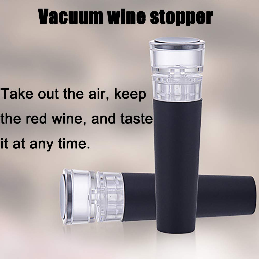 ZYG.GG Electric Bottle Opener, Rechargeable Wine Opener, Professional Electric Corkscrew Wine Accessories with Foil Cutter, Vacuum Stopper, Pourer and USB Charger Cable, Stainless Steel by ZYG.GG (Image #3)