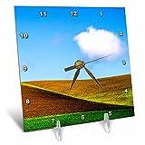 3dRose Danita Delimont - Agriculture - USA, Washington State, Palouse Country, Wheat farm. - 6x6 Desk Clock (dc_279777_1)