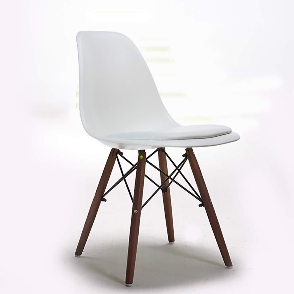 QRFDIAN Chaise de Loisirs Chaise de Salle à Manger créative Moderne Minimaliste Chaise en Bois Massif Chaise de café en Plastique Jambe d'eucalyptus A -
