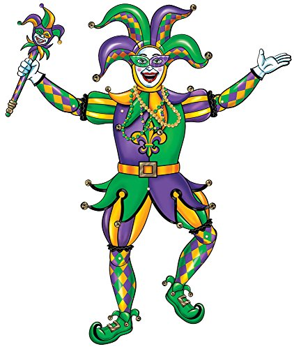 Amscan Party Supplies Jester Jointed Cutout (12 Piece), Multi (Jester Out Cut)