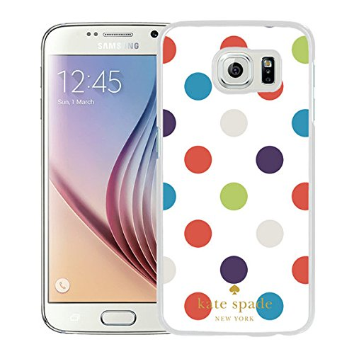 Unique And Nice Designed Kate Spade Cover Case For Samsung Galaxy S6 White Phone Case 49
