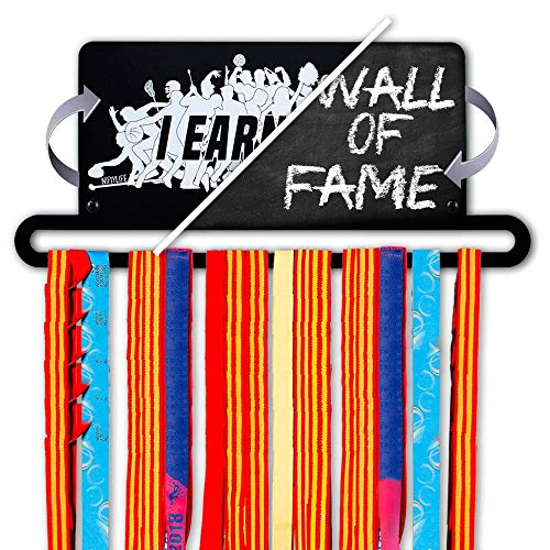 Life Medal - Nifty Life Medal Holders for Runners - Medal Holder for Kids Gymnastics Sports Marathon - Running Medal Display Rack - Metal Race Medal Hanger Personalized with Chalk for 30 Medals