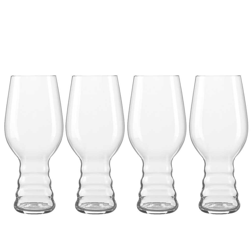 Spiegelau 4991382 IPA Craft Beer Glasses (Set of 4), Clear