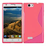 zte blade l2 phone cases - kwmobile TPU SILICONE CASE for ZTE Blade L2 Design S-Line dark pink transparent - Stylish designer case made of premium soft TPU