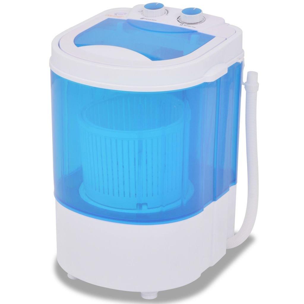 vidaXL Mini Machine à Laver à Cuve Unique 2, 6 kg Lave-linge pour Camping