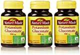 Nature Made Potassium Gluconate 550 Mg, 100 Count (3 Pack)