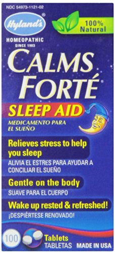 Hyland's Calms Forte' Sleep Aid Tablets, Natural Relief of Nervous Tension and Occasional Sleeplessness, 100 Quick Dissolving Tablets