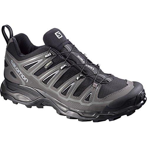 (Salomon Men's X Ultra 2 GTX Hiking Shoe, Black/Autobahn/Pewter, 7 D US)
