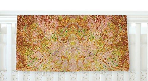 KESS InHouse Nikposium Goldenrod II Yellow Gold Fleece Baby Blanket 40 x 30 [並行輸入品]   B077ZKWD93