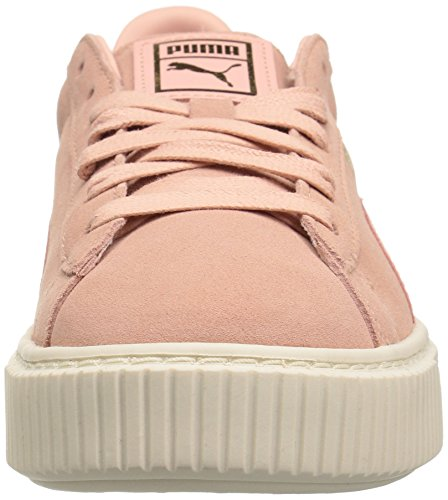 PUMA Whisper Cloud Coral Women Suede White Arzqw6Ax