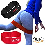 Starktape Hip Resistance Set 2 Bands with FREE Kinesiology Tape and Carrying bag | Improve Strenght, Mobility, Glutes Exercise, Fitness, Squatting, Lifting and all Leg Warm up Workouts.