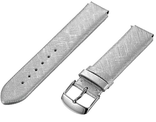 Philip Stein 1-CSFS 18mm Leather Calfskin Silver Watch Strap