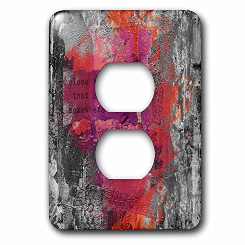 3dRose Andrea Haase Inspirational Typography - Modern Art With Quote Close The Door That No Longer Leads Somewhere - Light Switch Covers - 2 plug outlet cover (lsp_268341_6) by 3dRose