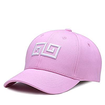 NUZADA Unisex Geometric Embroidery Men Women Hip-Hop Style Classic Fashion Baseball Cap Cotton Adjustable Hat
