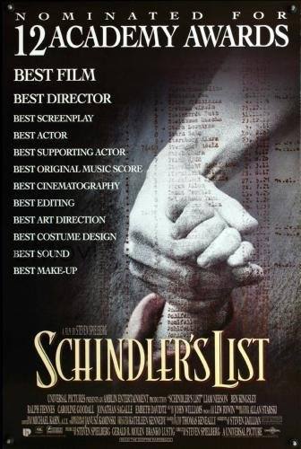 Schindlers List Movie Poster 11x17 Master Print