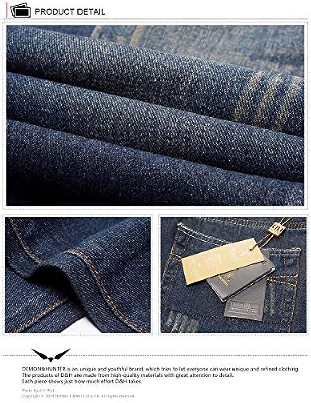 Demon&Hunter 806 Serie Męskie Jeanshosen Straight Jeans Męskie Regular Męskiejeans: Odzież