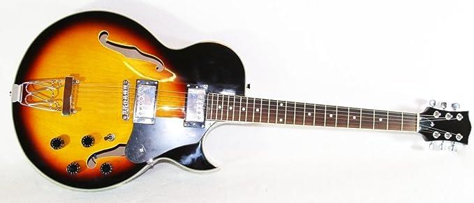 Cherrystone, GSH electric guitar, jazz guitar sunburst: Amazon.co.uk:  Musical Instruments