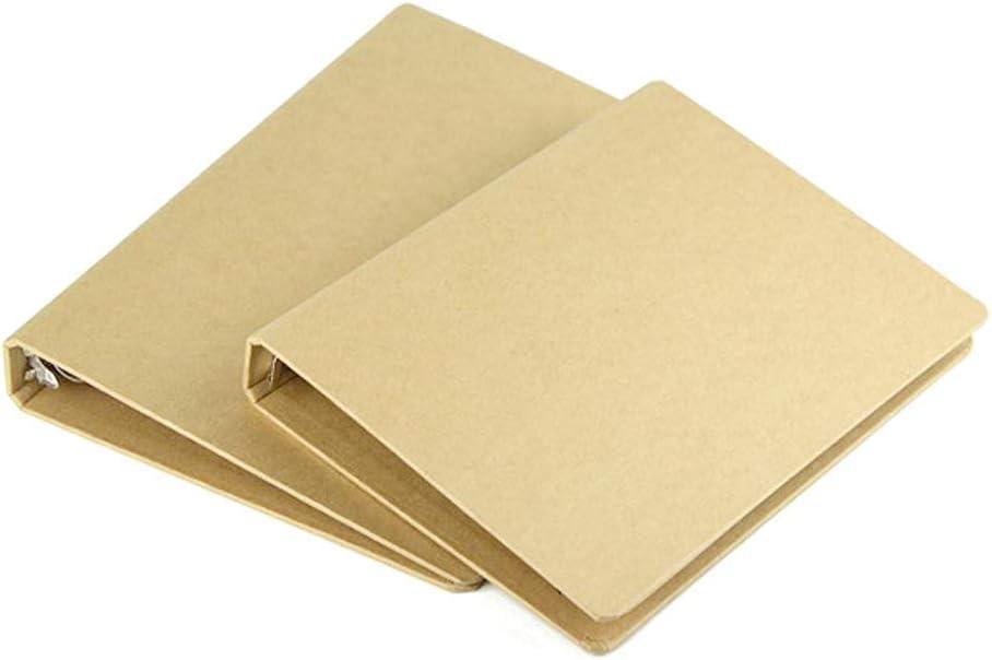 Carpeta forrada carpeta de papel kraft multifunci/ón 4 anillas 2 unidad para cuaderno de dibujo Archivador de anillas DIN A4 cubierta de bricolaje 240mm*315mm Carpeta de anillas