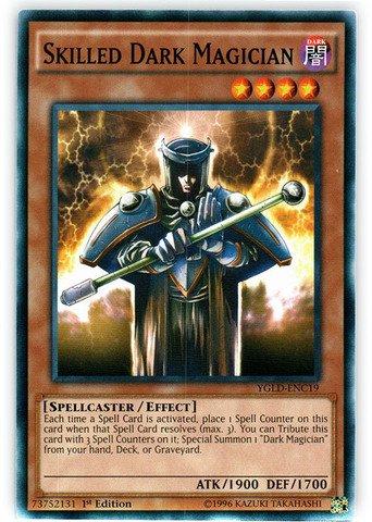 Yu-Gi-Oh! - Skilled Dark Magician (YGLD-ENC19) - Yugi's Legendary Decks - 1st Edition - Common