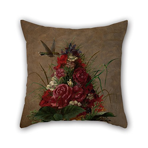 Golf Hummingbird (Cushion Covers 20 X 20 Inch / 50 By 50 Cm(both Sides) Nice Choice For Drawing Room,chair,kids Room,chair,boys,floor Oil Painting William Merritt Chase - Still Life With Hummingbird)