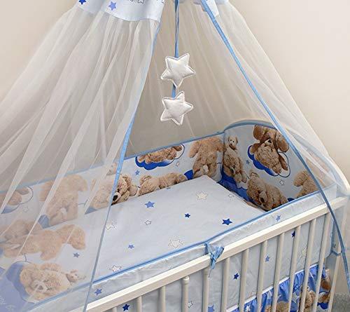 140x70cm 420cm Long Bumper 5 Pcs Baby Nursery Bedding Set Suits Cot Bed Pattern 1