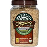 RICE SELECT Organic Brown Rice Jar, 1Kg