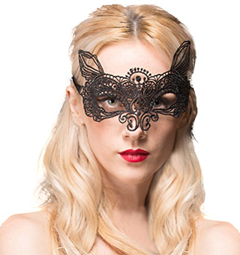 QinMi Lover Women's Lace Eye Mask For Masquerade Party Prom Ball Halloween,Fairy ()