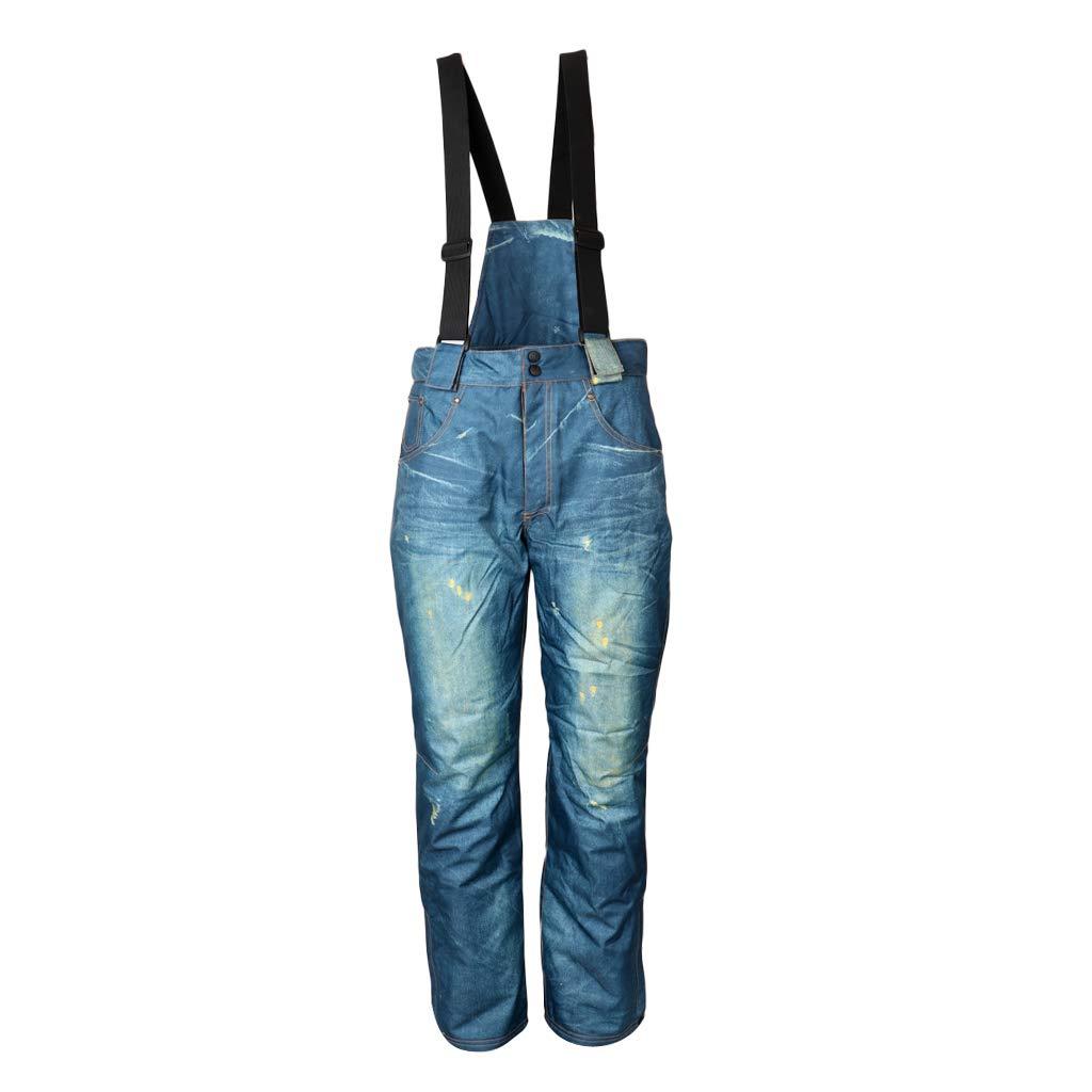 F Fityle Pantalones Vaqueros de Esquí Térmicos Impermeables ...
