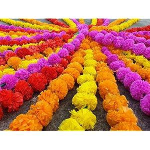 25 pcs lot Real Look Artificial Garlands Marigold Flower Garland Christmas Wedding Party Decor Flowers Mix Color Home Decor Christmas Decor 2