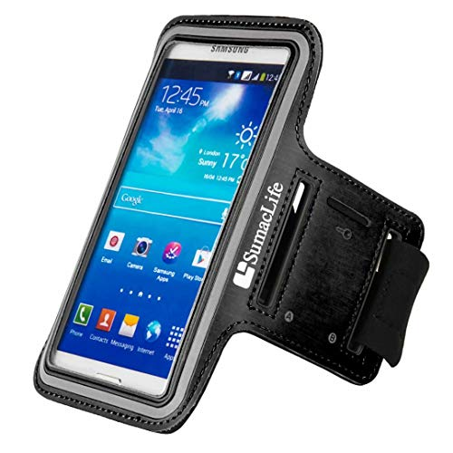 SumacLife Adjustable Neoprene Workout Armband Case for iphone 5S / 5C / 5 / ipod touch 5(Black)