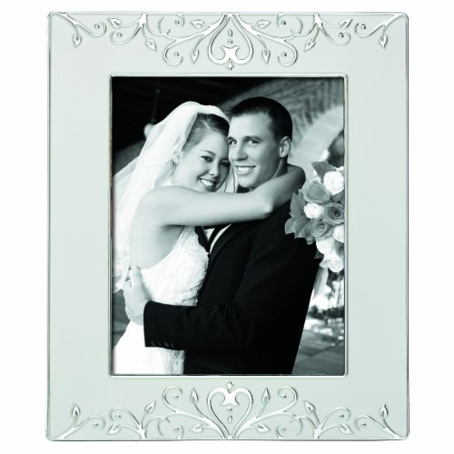 Lenox Opal Innocence Scroll 8 by 10 Frame (Frame Opal Wedding)