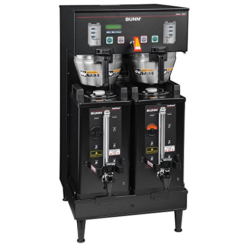Bunn 33500.0004 DUAL SH DBC BrewWise Dual Soft Heat Coffee Brewer, 18.9 Gallons Per Hour for Servers (Not Included)
