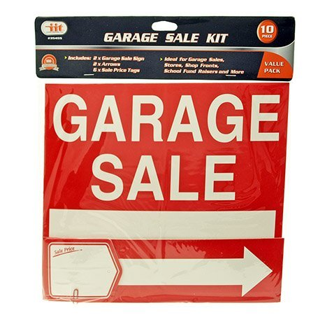 Garage Sale Signs an Tags 4 Signs, 4 Arrows, 12 Sale Price T